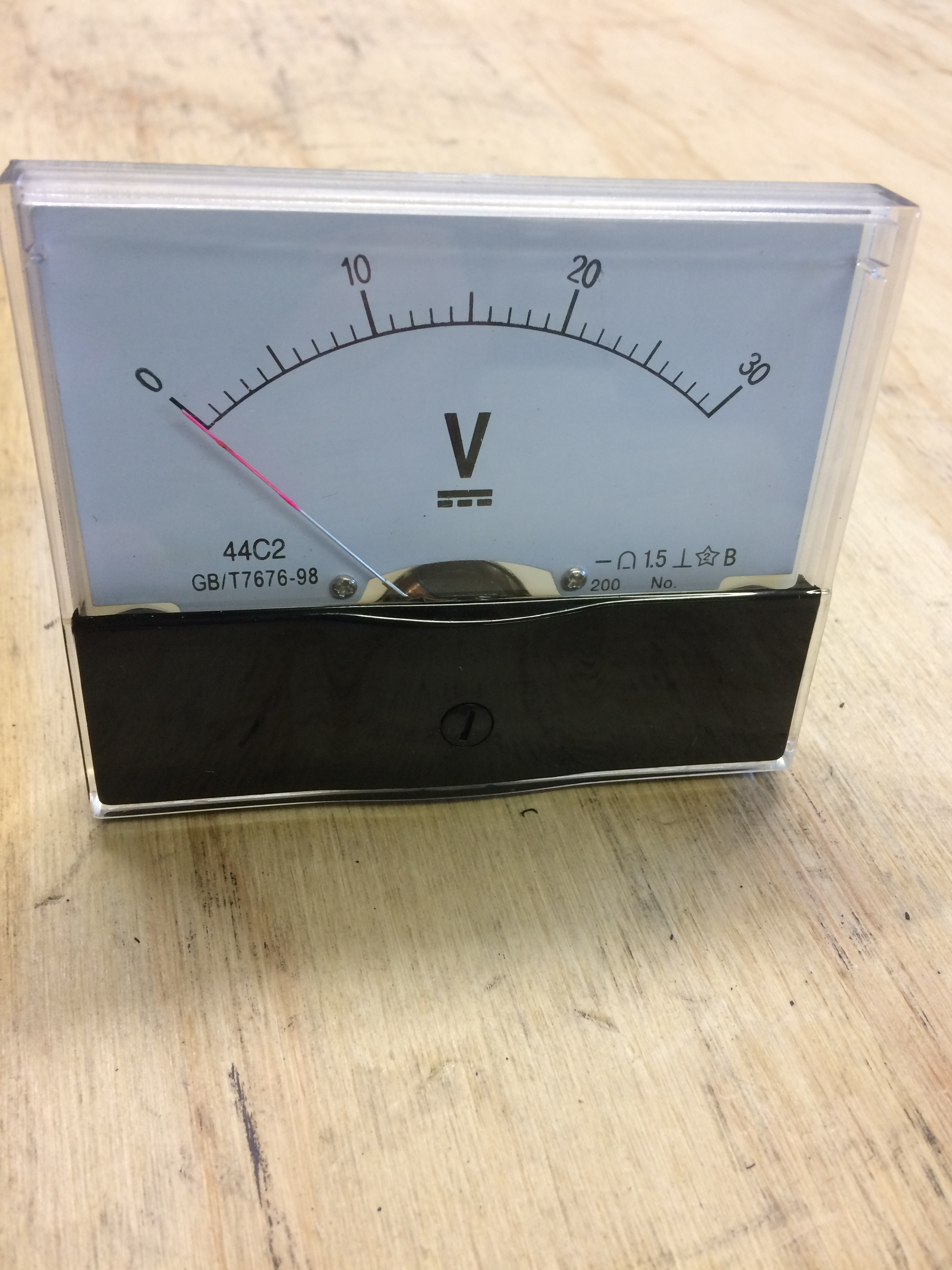 Analog Panel Meter : Panel mounted: Various Scales available Image